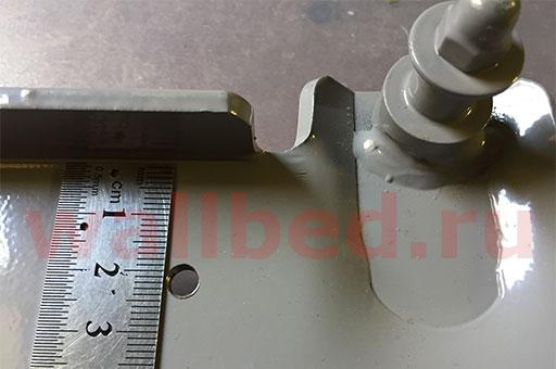 582 механизм - замер линейкой - 25 мм