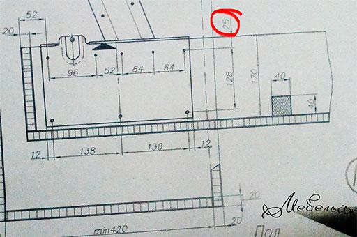 присадка 582 механизма - ошибка в чертеже - 25 мм