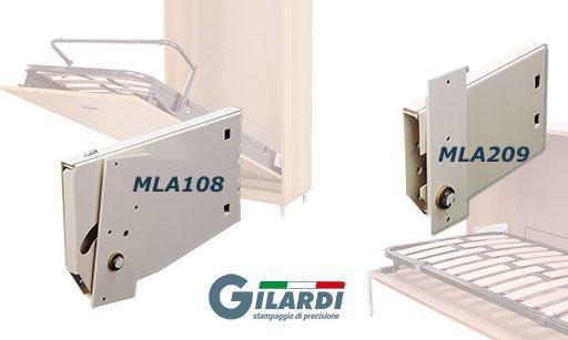 итальянские механизмы для шкаф-кровати трансформера Gilardi MLA